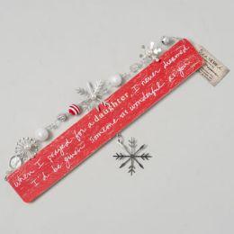 48 Units of Plaque Large Artisan Wood Daugthers Christmas - Christmas Novelties
