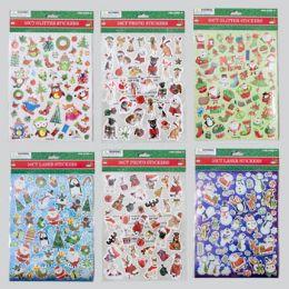 192 Units of Stickers Christmas 3ast Style Laser/glitter/photo - Christmas Novelties