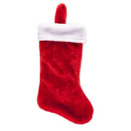18 Units of Stocking Deluxe Plush Red W/ White Cuff 18in Xmas Ht/j-hook - Christmas Stocking