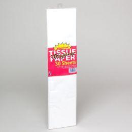 144 Units of Tissue Paper White 30 Sheet 20x20 - Christmas Novelties