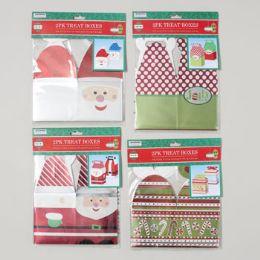 96 Units of Treat Boxes 2pk Metallic Christmas Prints - Christmas Novelties