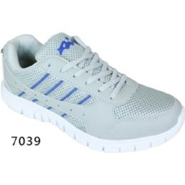 12 Units of Mens Running Sneakers Gray And Blue - Men's Shoes