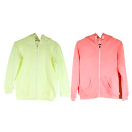 36 Units of Ladies Zipper Down Light Color Assorted Sweater - Womens Sweaters & Cardigan