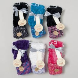 104 Units of Socks Cozy Feather Anklet Ladies - Womens Ankle Sock