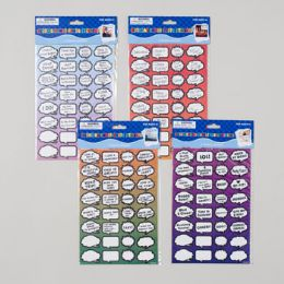 144 Units of Conversation Stickers Photo Safe Bday/wedding/vaca/greeting 4asst Gov Pbh - Sticky Note & Notepads