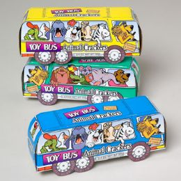144 Units of Animal Crackers Toy Bus 1.75 Oz In Shipper Item - Baking Supplies