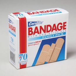 96 Units of Bandages Mixed Sizes 70 Cnt In Floor Display - Bandages and Support Wraps