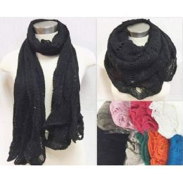 36 Units of Infinity Circle Knitted Scarves Dual Purpose Assorted - Womens Fashion Scarves