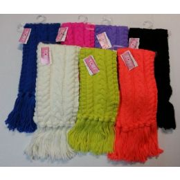 36 Units of Ladies Fashion Scarves Assorted Colors - Womens Fashion Scarves