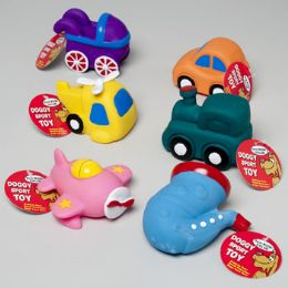 108 Units of Dog Toy Vinyl 6 Assorted With Squeaker In Pdq