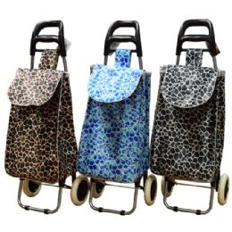 12 Units of Shopping Cart w/ Wheels Metal Handle - Shopping Cart Liner