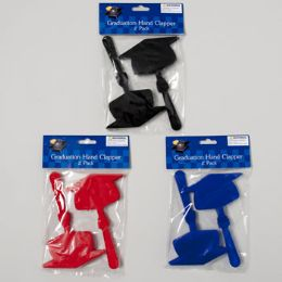 48 Units of Graduation Hand Clapper 2pk Grad Hat Shape Plastic - Graduation