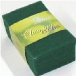 96 Units of 12pc Green Scrubber Set - Scouring Pads & Sponges
