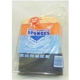 80 Units of Multi pk Scrub Sponge - Scouring Pads & Sponges