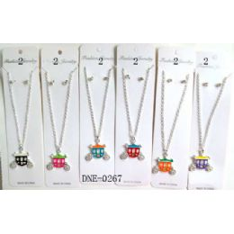 72 Units of Carriage Necklace With Earring - Necklace