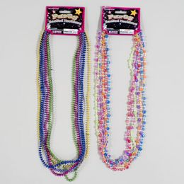 144 Units of Necklace Beaded 6pc Party Sequin Crystal Or Orbital Beads Gov Logo Tcd - Necklace