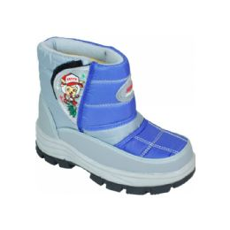 15 Units of Children Printed Winter Boots Blue - Boys Footwear
