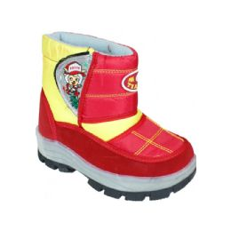 15 Units of Children Printed Winter Boots Red - Boys Footwear