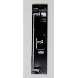 24 Units of Bath Value 2pc Set Brushed Nickel Lenox Carded *19.99* Towel Bar, Tissue Holder - Brushes