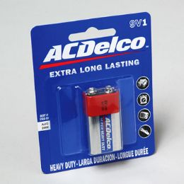 96 Units of Battery Ac Delco 9volt 1pk Heavy Duty On Blister Card - Batteries