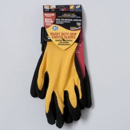 120 Units of Gloves Nitrile Coated Spandex Medium Black/yellow - Working Gloves