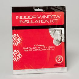 144 Units of Window Insulation Shrink Wrap Kit 2pk - Hardware Products