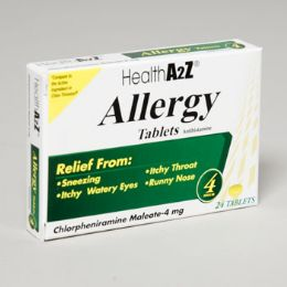 96 Units of Allergy Relief 24 Tablets 4 Hour Boxed Compare To Chlor-trimeton - Pain and Allergy Relief