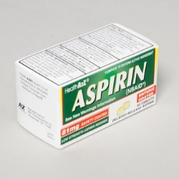 96 Units of Aspirin Enteric Coated 50ct Tablets 81mg Compare To Bayer - Pain and Allergy Relief