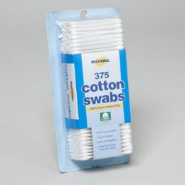 36 Units of Cotton Swabs 375ct Plastic Stick Recloseable Blister Card - Cotton Balls & Swabs