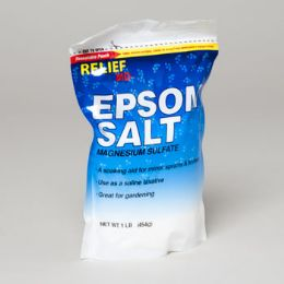 96 Units of Epsom Salt Magnesium Sulfate 16 Oz Resealable Bag - Skin Care