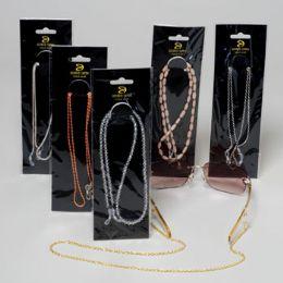 24 Units of Eyeglass Chains 12 Asst Case - Eyeglass & Sunglass Cases