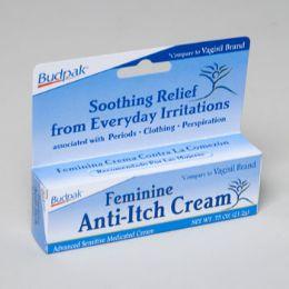 96 Units of Feminine Anti Itch Cream .75 Oz 5 Panel Color Boxed Budpak - Skin Care