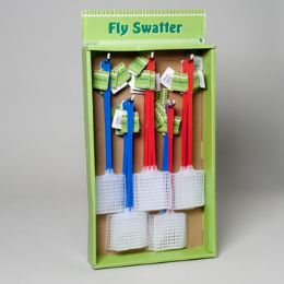 160 Units of Flyswatter Plastic Red Or Blue Colors In 40pc Sidekick Display Gov Garden Hangtag - Pest Control
