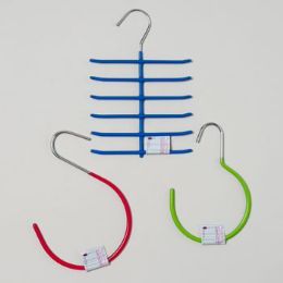 144 Units of Hangers 3ast W/pvc Coating 1pc - Hangers