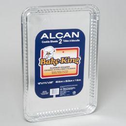 96 Units of Aluminum Foilware Cookie Sheets 2ct Bake King 16 X 11 X 5 - Aluminum Pans