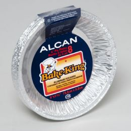 144 Units of Aluminum Foilware Pie Plates 8ct 6inch Bake King Peggable - Aluminum Pans