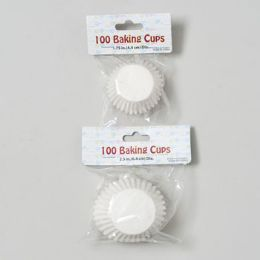 144 Units of Cake/candy Baking Cups White - Baking Supplies