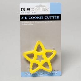 144 Units of Cookie Cutter 3d Star Carded - Baking Supplies