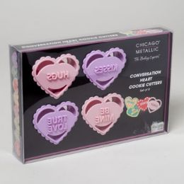 36 Units of Cookie Cutter Set Of 8 Boxed Conversation Hearts - Baking Supplies