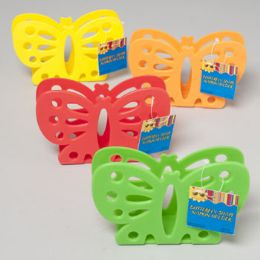 48 Units of Napkin Holder Butterfly Shape 4 Summer Colors Die Cut Gov Summer Hang Tag - Napkin and Paper Towel Holders