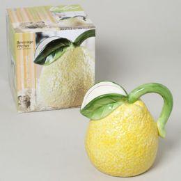 24 Units of Pitcher Lemon 55 Oz Ceramic - Serving Trays