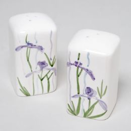 48 Units of Shadow Iris Salt & Pepper Shakers 2x2x3-5/8 -set- - Serving Trays