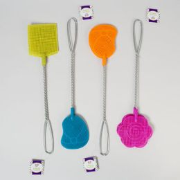 48 Units of 2 Pack Metal Handle Fly Swatter - Pest Control
