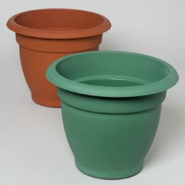 "24 Units of Planter 12"" Round X 11""h Terra Cotta, Green - Garden Planters and Pots"