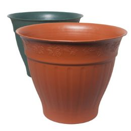 12 Units of Round Terra Cotta Planter - Garden Planters and Pots
