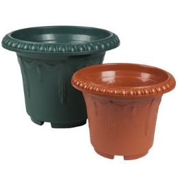 48 Units of Terra Cotta Emboss Draping Planter - Garden Planters and Pots