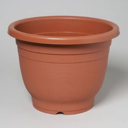 "48 Units of Planter Round 13.5""x10.5""h Terra Cotta & Hunter Green No Holes #2607 - Garden Planters and Pots"