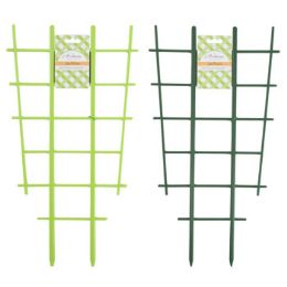 48 Units of Trellis 2pk For Planters Green Plastic 18.75x10 Garden Tie card Lime Green & Forest Green - Garden Planters and Pots