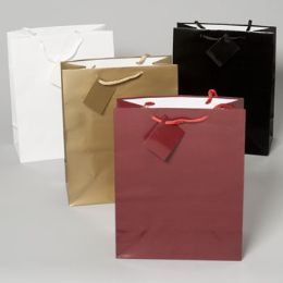 144 Units of Gift Bag Large Emboss Lizard 6asst Solid Colors Upc Label 10.25 X 12.75 X 5 - Gift Bags Assorted