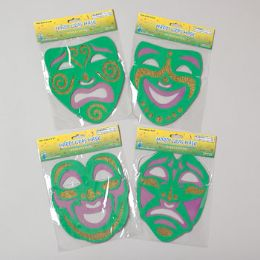 288 Units of Mask Mardi Gras Foam W/glitter 4asst Gov Logo Pbh - Costumes & Accessories